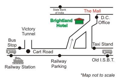 Brightland Hotel Map